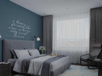 Пример отделки квартиры в стиле Оникс